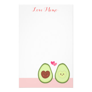 Cute Avocado couple in love, My other half Stationery