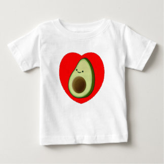 Cute Avocado In Red Heart Baby T-Shirt