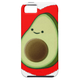 Cute Avocado In Red Heart Case For The iPhone 5