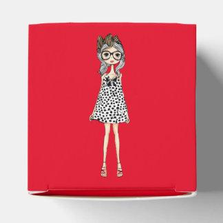 Cute Awkward Girl in Her Polka Dot Dress Favour Box