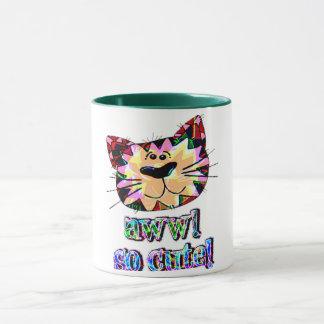 cute awww cute cat funny cat mom mug