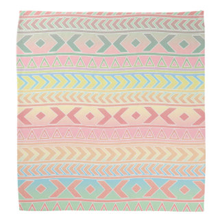 Cute Aztec Influenced Pattern In Pastel Colors Bandana