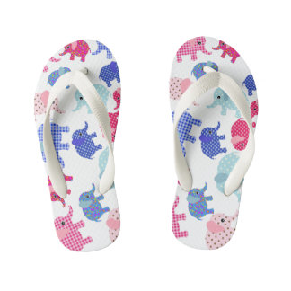 Cute babies elephants  ,PLIP PLOP Kid's Thongs