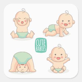 Cute Babies Square Sticker