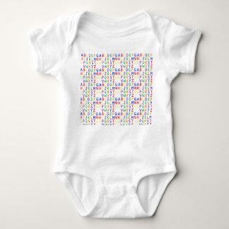 CUTE BABY ALFABET BABY BODYSUIT