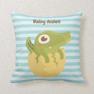 Cute Baby Alligator Egg Nursery Room Decor Pillow