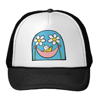 Cute Baby and Daisies Trucker Hat