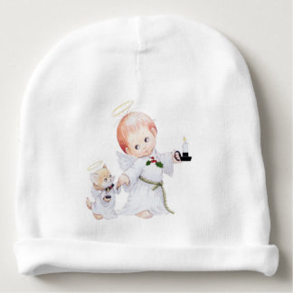 Cute Baby Angel And Cat Baby Beanie