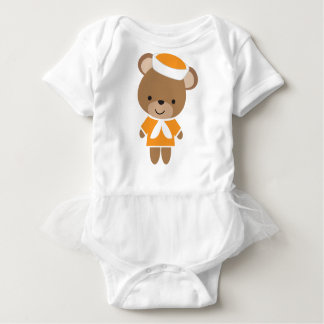 Cute Baby Animal Sailor Bear Baby Bodysuit