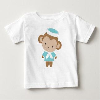 Cute Baby Animal Sailor Monkey Baby T-Shirt