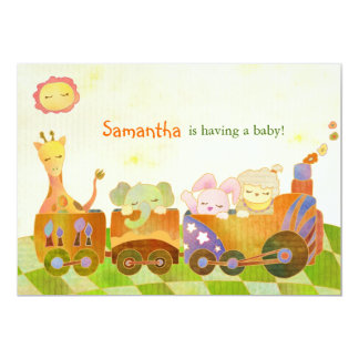 Cute Baby Animals Baby Shower Card