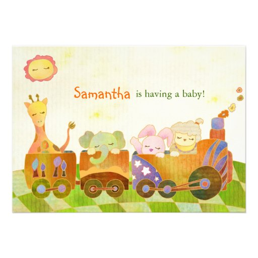 Cute Baby Animals: Baby Shower Invitation