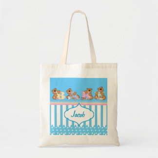 Cute Baby Bears for a Boy Budget Tote Bag