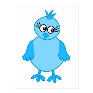 Cute Baby Bird, Blue. Postcard