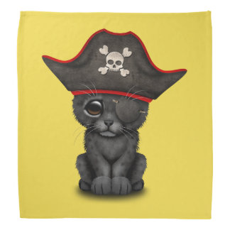 Cute Baby Black Panther Cub Pirate Bandana
