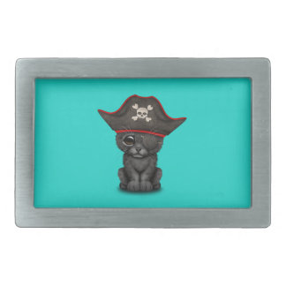 Cute Baby Black Panther Cub Pirate Belt Buckles