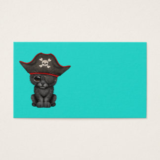 Cute Baby Black Panther Cub Pirate Business Card