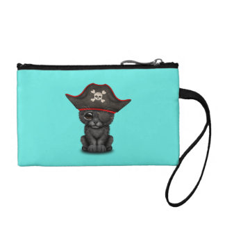 Cute Baby Black Panther Cub Pirate Coin Purse