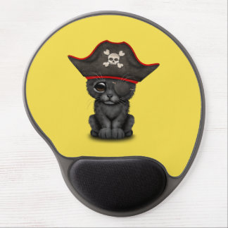 Cute Baby Black Panther Cub Pirate Gel Mouse Pad