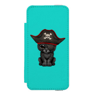 Cute Baby Black Panther Cub Pirate Incipio Watson™ iPhone 5 Wallet Case