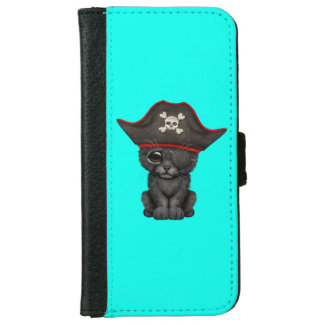 Cute Baby Black Panther Cub Pirate iPhone 6 Wallet Case