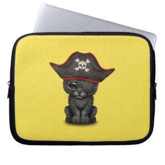 Cute Baby Black Panther Cub Pirate Laptop Sleeve
