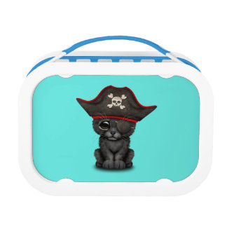 Cute Baby Black Panther Cub Pirate Lunch Box