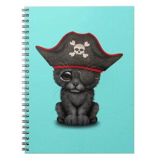 Cute Baby Black Panther Cub Pirate Notebook