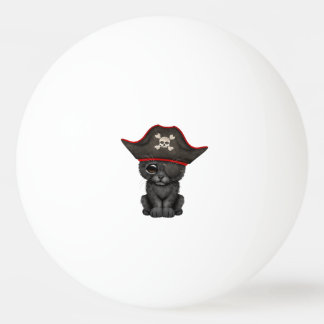 Cute Baby Black Panther Cub Pirate Ping Pong Ball