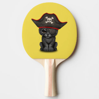 Cute Baby Black Panther Cub Pirate Ping Pong Paddle