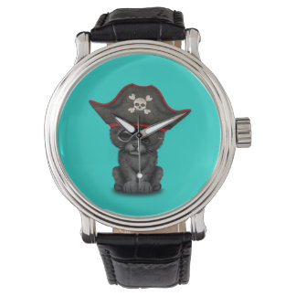 Cute Baby Black Panther Cub Pirate Watch