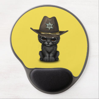 Cute Baby Black Panther Cub Sheriff Gel Mouse Pad