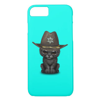 Cute Baby Black Panther Cub Sheriff iPhone 8/7 Case