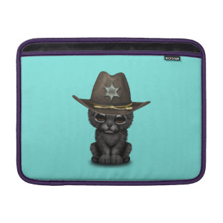 Cute Baby Black Panther Cub Sheriff MacBook Sleeve