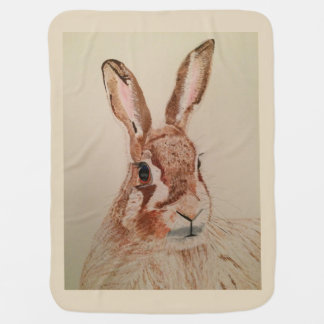 Cute Baby blanket with Wild Hare