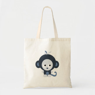 Cute Baby Blue Monkey Tote Bag