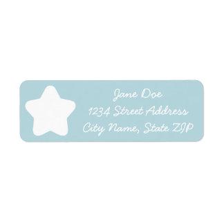 Cute Baby Blue Star Return Address Label