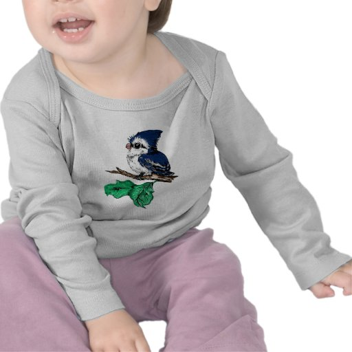 Cute Baby Bluejay Shirt 2