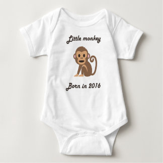 Cute baby bodysuit Chinese zodiac - 2016 monkey