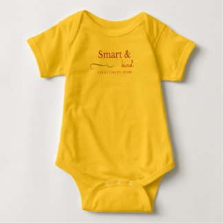 Cute Baby Bodysuit Smart and Kind