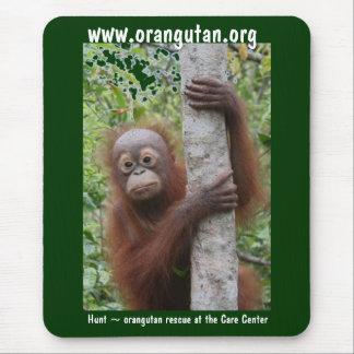 Cute Baby Borneo Orangutan Mouse Pad