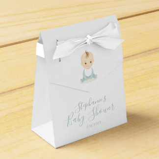 Cute Baby Boy and his Mobile Baby Shower Favour Box