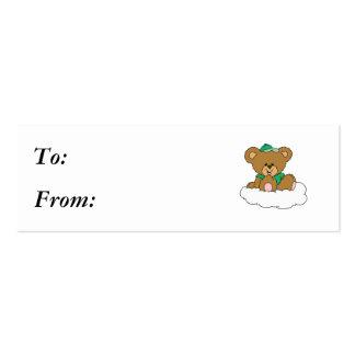 Cute Baby Boy Bear on Cloud Business Card Template