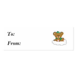Cute Baby Boy Bear on Cloud Pack Of Skinny Business Cards
