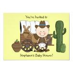 Cute Baby Boy & Horse Pony Custom Western 13 Cm X 18 Cm Invitation Card