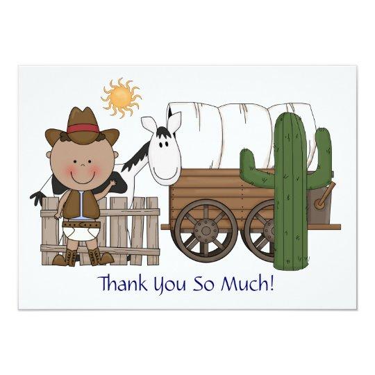 Cute Baby Boy Horse Pony Custom Western Thank You Card