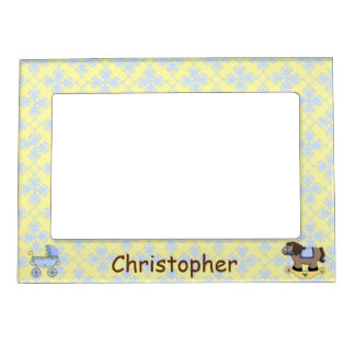 Cute Baby Boy Picture Frame Magnet