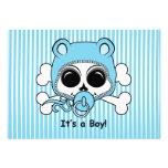 Cute Baby Boy Skull Custom Invites