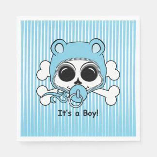 Cute Baby Boy Skull Disposable Napkin