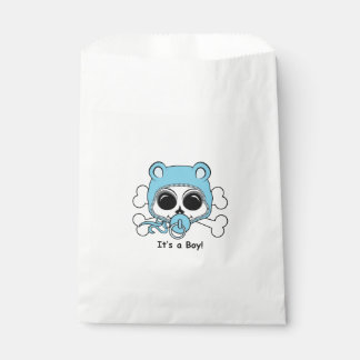 Cute Baby Boy Skull Favour Bag